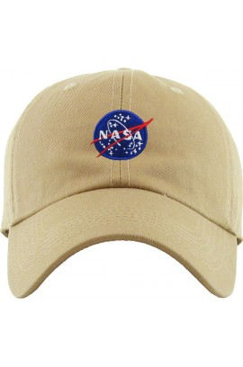 Nasa Spaceship Dad Hat Baseball Cap - Khaki