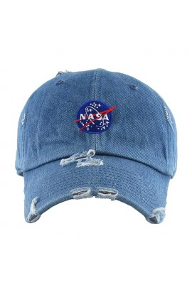 Nasa Spaceship Vintage Dad Hat Baseball Cap - Medium Denim
