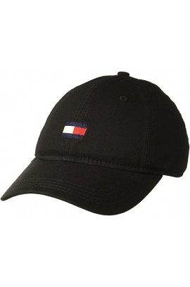 Tommy Hilfiger Men's Ardin Dad Hat- Black