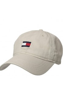 Tommy Hilfiger Men's Ardin Dad Hat- Stone