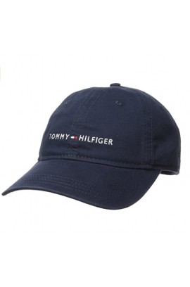 Tommy Hilfiger Men's Logo Dad Baseball Cap- Navy