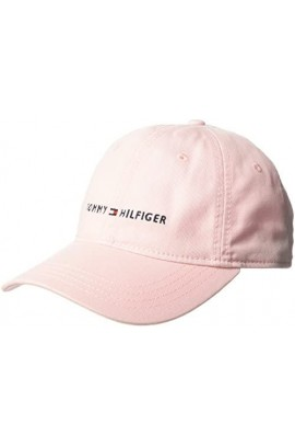 Tommy Hilfiger Men's Logo Dad Baseball Cap- Crystal Rose