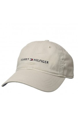 Tommy Hilfiger Men's Logo Dad Baseball Cap- Stone