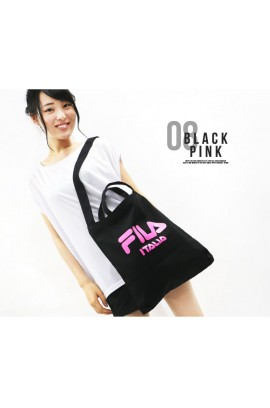 [新款出爐] 超人氣! FILA - Two Ways Tote Bag 兩用袋 - Pink /Black