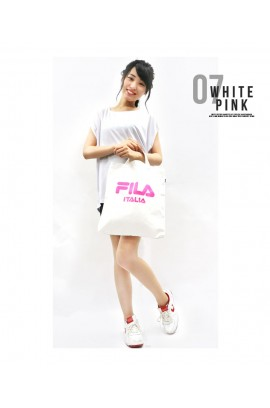 FILA - Two Ways Tote Bag 兩用袋 - WHITE / PINK