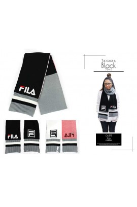 FILA Triple Color Scarf -  Black