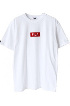 FILA Red Logo Tee - White