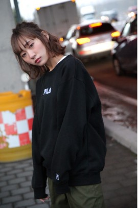 FILA Logo Sweat Shirt - Black