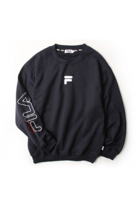 FILA Sleeve Print Trainer - Navy