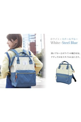Anello Backpack Rucksack - Steel Blue x White [2016秋季新款]
