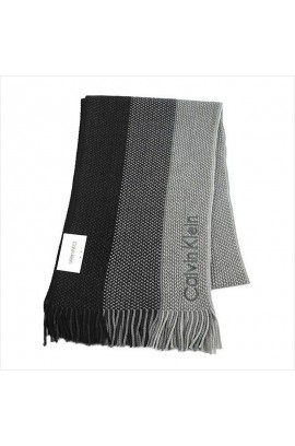 Calvin Klein Woven Triple Color Scarf  -Black
