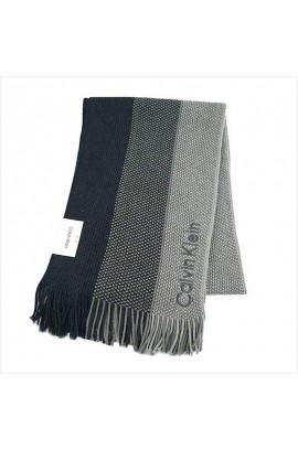 Calvin Klein Woven Triple Color Scarf  - Navy
