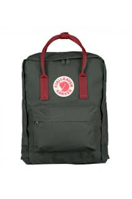 Fjallraven Kanken –  Forest Green Ox Red