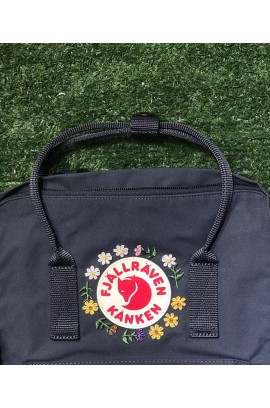 [全新刺繡限版!] Fjallraven Kanken –  Graphite/ Sunflower Garden