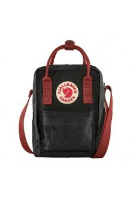 Fjallraven Kanken Sling Cross Body Bag – Black Ox Red