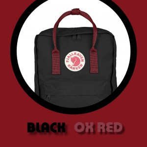 Fjallraven Kanken Classic - Black Ox Red