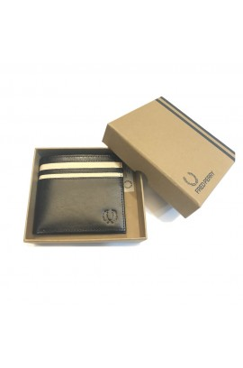 Fred Perry Men's Leather Billfold & Coin Wallet - 連原裝禮盒