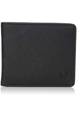 Fred Perry Men's Saffiano Patch Logo Billfold Wallet