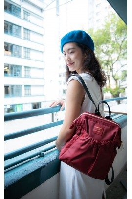 KnK ISA Mini Backpack- Wine Red