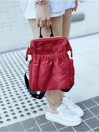 KnK ISA Mini Backpack- Wine Red