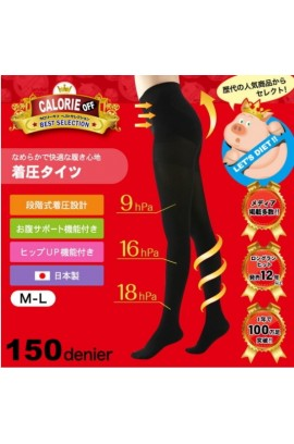 YCY - [日本人気No.1] 日本小飛豬 - CALORIE OFF  視覺隱型壓力襪褲 (150D)