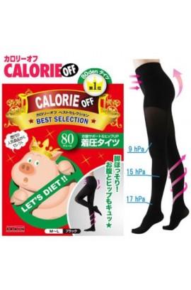 YCY - [日本人気No.1] 日本小飛豬 - CALORIE OFF  視覺隱型壓力襪褲 (80D)