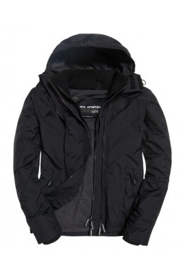 Pop Zip Hooded Arctic SD-Windcheater Jacket - black/dark grey marl