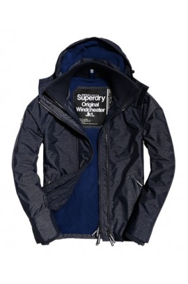 Pop Zip Hooded Arctic SD-Windcheater Jacket - navy marl/navy