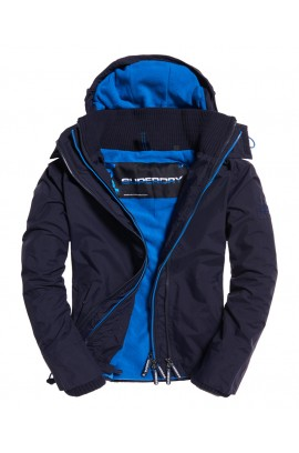 Pop Zip Hooded Arctic SD-Windcheater Jacket - Deep Marine/mid Blue