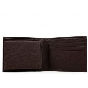 Calvin Klein Leather Billfold Wallet - Brown