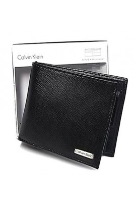 Calvin Klein Leather Wallet With Coin Case - Black 連精美禮盒