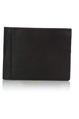 [優質小牛皮] Calvin Klein Saffinao Leather Slim Wallet / Black