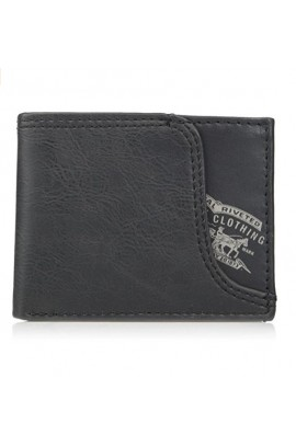 [插鎖匙位] Levi's Men's Leather Passcase Wallet - Grey