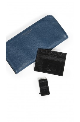 Ted Baker London - Leather Money Clip with Card Case Set