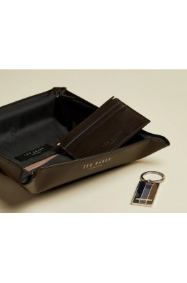 Ted Baker London - Leather Keyring with Card Case Set