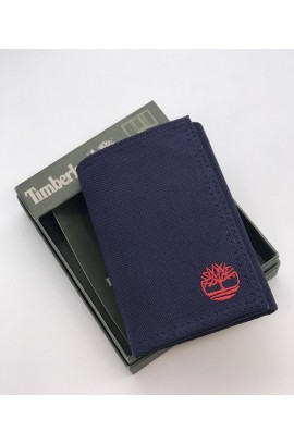 Timberland Men's Trifold Nylon Wallet - Navy