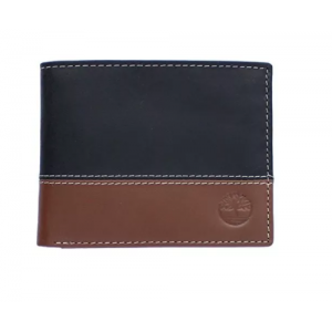 [全新3摺] Timberland Men's Hunter Color-Block Wallet - Black/ Deep Brown