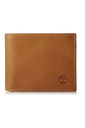 [經典製靴皮] Timberland Men's leather Wallet - Classic Tan Leather