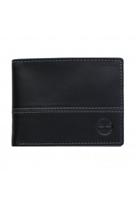 [全新3摺] Timberland Men's Hunter Color-Block Wallet - Black/ Black