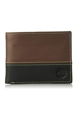 [全新3摺] Timberland Men's Hunter Color-Block Wallet - Deep Brown / Black