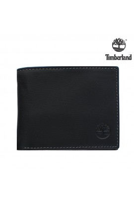 [薄身兩摺] Timberland Men's Fine Blix Wallet - Black / 連精美禮盒