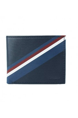 [新登場]Tommy Hilfiger Men's Leather Double Billfold Passcase Wallet & Valet
