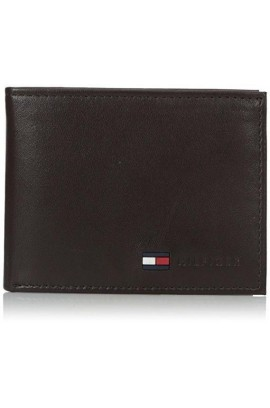 Tommy Hilfiger Men's Leather Passcase Wallet - Brown
