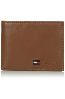 Tommy Hilfiger Men's Leather Passcase Wallet - Tan