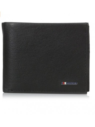 [連精美皮盒] Tommy Hilfiger - Small Badge Logo Leather Wallet